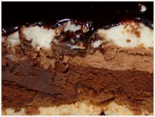 Gateau trois chocolat croquant